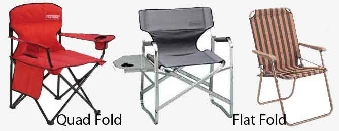 2 styles of folding chair