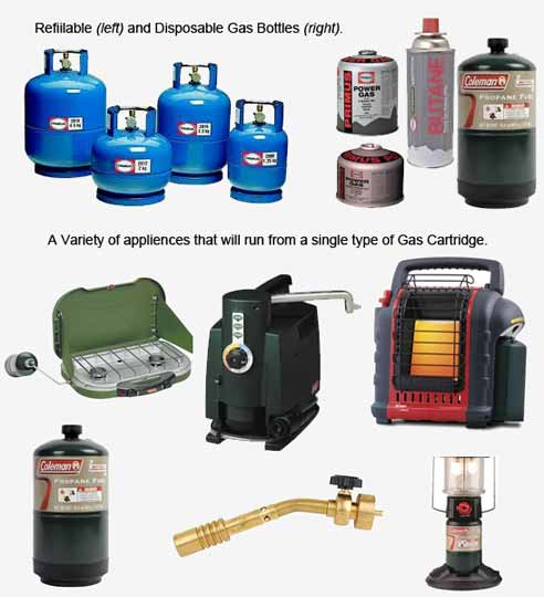 A Variety of Gas Bottles and Appliances