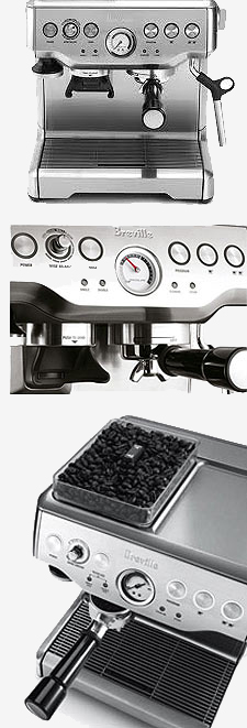 3 views of the Breville BES860.