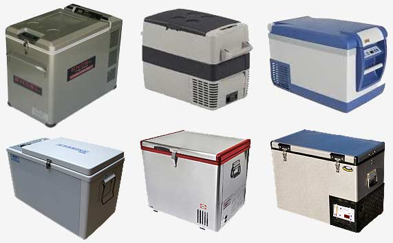 range of different car fridges