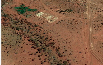 Satellite image of Kathleen Valley Ruins