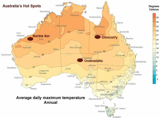 The Great Debate The Hottest Town In Australia - Map of western australia with towns
