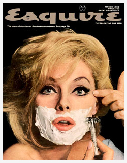 Esquire mag cover of girl shaving