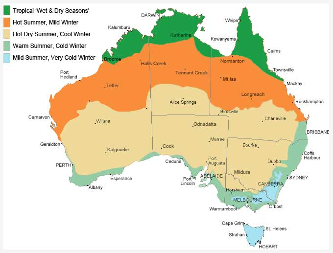 Australia Map Time Zones.The Best Time To Travel Australia